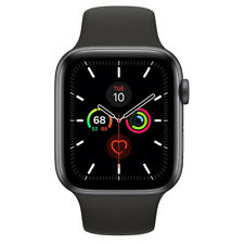 Apple Watch Series 5 Space Gray Aluminum Black Sport Band 44MM Model A2093 NEW
