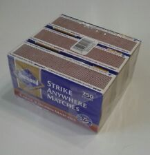 DIAMOND Strike Anywhere Matches Sealed 3 Pack 750 count  RED & White TIP Rare