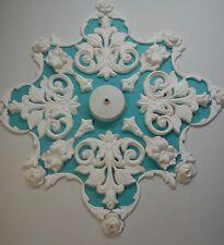 INTONACO del soffitto ROSE / Design, Art Deco Stile, HAND MADE,50 diametro, Home Decor