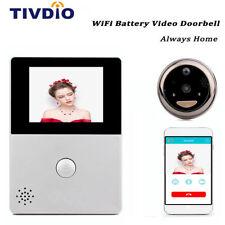 """TIVDIO 2.8"""" OLED Peephole Door Viewer Security Camera WiFi Doorbell w/  Intercom"""