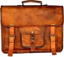 New Men's Real Handmade Leather Vintage Laptop Messenger Briefcase Bag Satchel