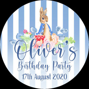 24 Personalised Stickers For Party/Sweet Cone Bags Peter Rabbit  Birthday Party