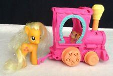 G4 My Little Pony MLP Friendship is Magic Express Train Engine w Applejack Pony