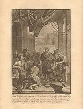 1770  ANTIQUE PRINT -BIBLE- AND HE SPAKE UNTO EPHRON IN THE AUDIENCE OF THE PEOP