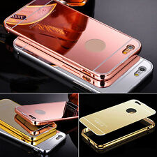 Brush Aluminum Metal Bumper Mirror Back Case Cover For Samsung Mobile Cell Phone