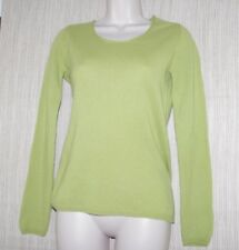 In Cashmere Spring Green Crew Neck Women's Sweater Pullover Size:S