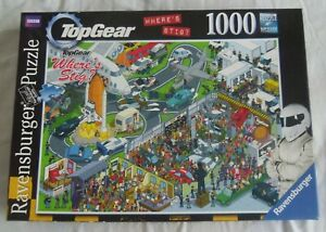 New & Sealed Top Gear Ravensburger Where's Stig 1000 Piece Jigsaw Puzzle