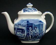 Enoch Wedgwood Liberty Blue USA Historic Colonial Scenes 2pint Teapot & Lid 16cm