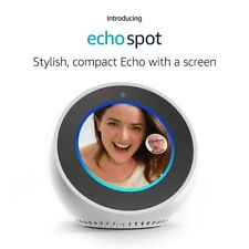 Amazon Echo Spot Alexa WHITE BRAND NEW - with Warranty ✔✔ FREE USA SHIPPING✔✔
