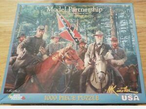 """White Mountain Puzzle """"MODEL PARTNERSHIP"""" 1000 Puzzle Kunstler (New Opened Box)"""