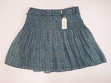 Womens Skirt Max Studio SZ 10 Delia Blue Diamond Chiffon $78