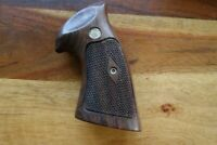 Smith & Wesson K & L Frame Grips Square Butt Diamond Checkered Medallions BEAUTY