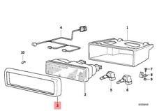 Genuine BMW E31 Coupe Adjusting Screw OEM 63128108411