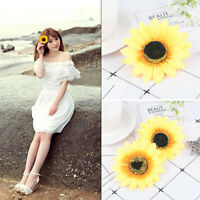 Beautiful Sunflower Flower Hair Clip Vacation Bridal Wedding Party For Women