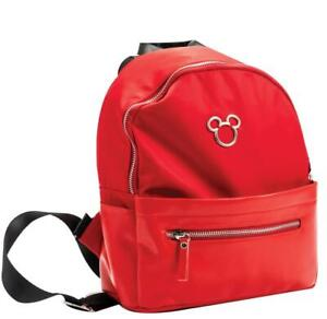 Disney Mickey Mouse Zippered Red Backpack Bag Daily Use 28cm