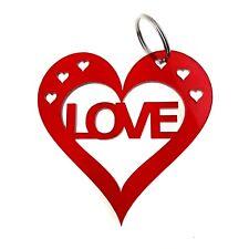 Origin - Valentines Anniversario, Love Cuore Rosso Grande Portachiavi - Regalo