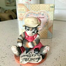 "1997 Enesco Calico Kittens ""Fur-Ever Yours� #295450 P Hillman W Box & Cert"