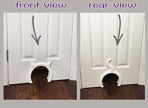 Pet Peppy's Cat Door Free Shipping w/Installation Instructions Cut Feline Portal