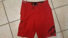 BILLABONG PLATINUM STRETCH RED MEN'S TEEN BOARD SHORTS SIZE 30 NEW WITHOUT TAGS
