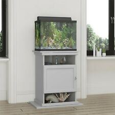 10-20 Gallon Aquarium Stand Storage Cabinet Fish Tank Holder Wood Classic Gray