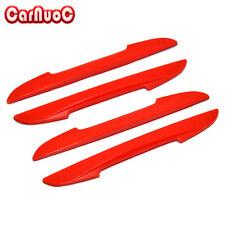 4x Carbon Fiber Car Door Side Edge Protector Red Guard Sticker Door Bumper Strip