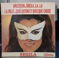 "**** EP 45T SHEILA Disques CARRERE 437453 "" ARLEQUIN "" **** Languette - JAT impr"