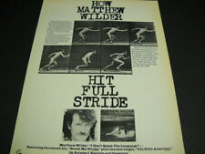 Matthew Wilder in full stride with Break My Stride 1984 Promo Poster Ad mint