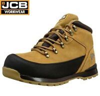 JCB LIGHTWEIGHT MENS LEATHER SAFETY WORK BOOTS STEEL TOE CAP WIDE FIT SHOES SIZE
