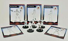 """Wizards Coast Star Wars Miniatures Galaxy War Lot of 5 Clone Trooper 1.5"""" RPG"""