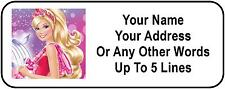 30 Barbie Personalized Address Labels