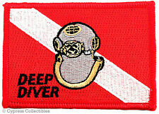 Mark V Helmet IRON-ON PATCH embroidered MK-5 NAVY DIVER EMBLEM SCUBA SOUVENIR