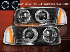 2001-2006 YUKON DENALI / 99-06 GMC SIERRA / YUKON 2HALO PROJECTOR HEADLIGHTS BLK