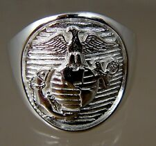 US Marine Corps USMC official license USA made Ring .925 sterling  size 14.5