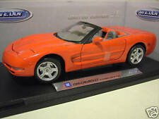 CHEVROLET CORVETTE cabriolet 1999 rouge 1/18 WELLY voiture miniature collection