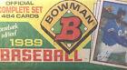 Bowman+1989+Baseball+Factory+Set+Trading+Cards