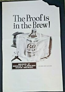 RAINIER BEER Org VNTG ADVERTISING Poster PROOF IS IN THE BREW 14x22