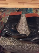 """vero cuoio Womans 16"""" 2 Tone Boots With 1 1/2"""" Heels Size 8b"""