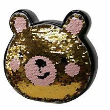 Sequin Bear Ceramic Pot Money Box Savings Bank