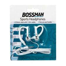 Sports Headphones / Earphones With Secure Ear Hooks for Running 1.2m Long