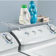 Laundry Room Space Saving Organizer Over The Washer Dryer Storage Shelf White