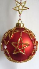 X601 Bead PATTERN ONLY Beaded Starburst Christmas Ornament Cover