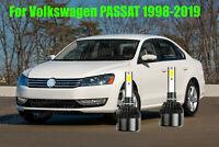 LED Headlight Kit H7 White 6000K Low Beam CREE 600w Bulbs for VW Jetta 2006-2019