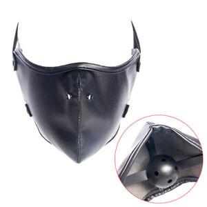 Mouth Gag Mask Bdsm Bondage Slave Breathable Ball Leather Harness Restraint Toy