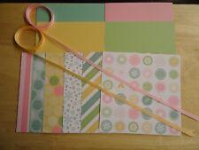 """Stampin Up SPRING FLING 6 X 6"""" Designer Paper Card Kit Ribbon"""