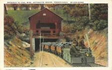ENTRANCE TO COAL MINE ANTHRACITE REGION WILKES-BARRE PENNSYLVANIA POSTCARD 1937