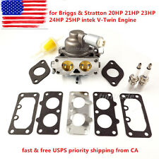 Carburetor for Briggs & Stratton 20HP 21HP 23HP 24HP 25HP intek V-Twin Engine US