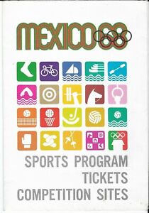 MEXICO 68 OLYMPIC SPORTS PROGRAM TICKETS COMPETITION SITES 1968 OLYMPICS