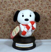 Hallmark Itty Bittys Peanuts - Candy Cane Snoopy with tags