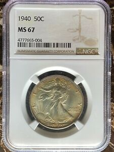 1940 Walking Liberty Half Dollar - NGC MS67
