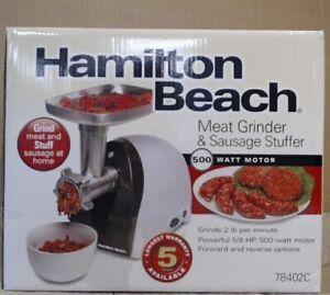 NEW OPEN BOX Hamilton Beach 78402C Meat Grinder & Sausage Stuffer $100 - READ